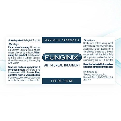 Funginix Nail Fungus Treatment, Maximum Strength Anti-Fungal Toenail ...