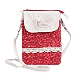Damara Womens Floral Patterned Multilayer Utility Phone Pouch