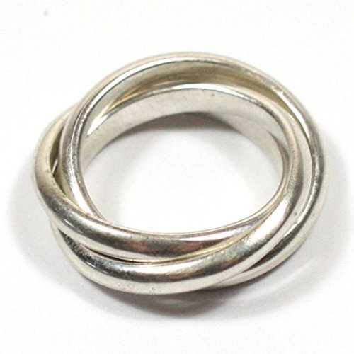 Solid Silver Handmade Chunky 3 Band Russian Wedding Ring Amazon Co