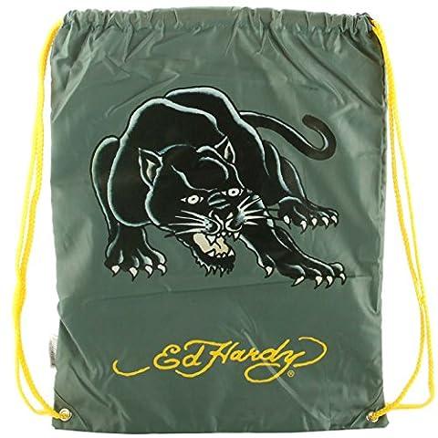 Ed Hardy Drew Drawstring Panther Bag -Asphalt Grey - Ed Hardy Womens Girl