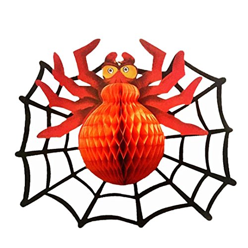 Iuhan Halloween Spider Bats Hanging Decoration Home Party Festival Decorative Props Papery (Mind Motion Halloween Party)