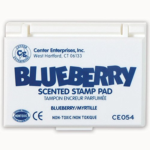 Center Enterprise CE054 Blueberry Scented Stamp Pad, Blue