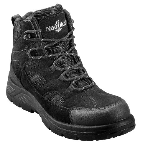 Nautilus Men's Metal Free Waterproof Lace-up Work Boot Composite Toe Black 10.5 D(M) US
