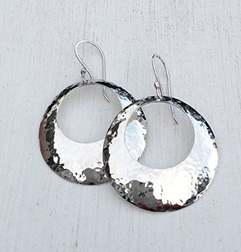 Domed Circle Sterling Silver - Hoop Classic Domed