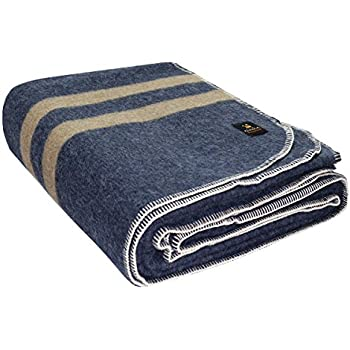 Amazon Com Putuco Thick Alpaca Wool Blanket King Navy