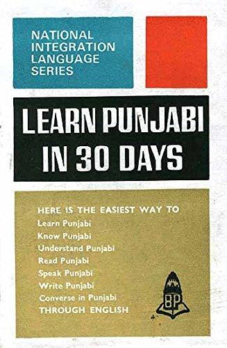 Learn Punjabi in 30 Days (National Integration Language Series) pdf