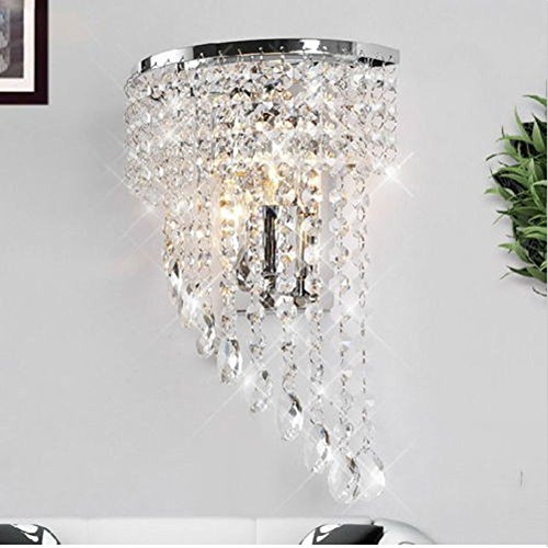 Fuloon Modern K9 Crystal Wall Lights Fashion Wall Sconce Hallway Stairs Hotels Lamp For Sale