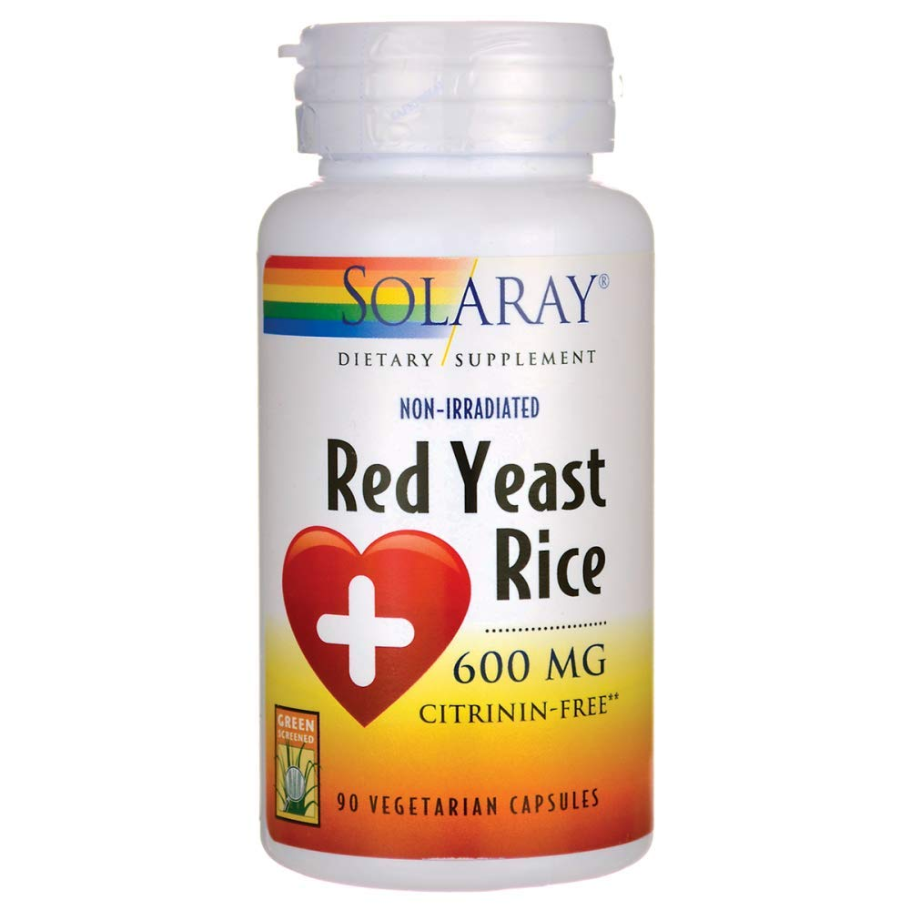 Solaray Red Yeast Rice Capsules, 600 mg, 90 Count