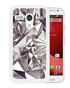 Diamond pattern White Motorola Moto G Screen Phone Case Unique and Grace Design
