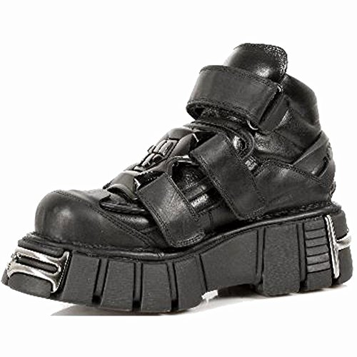 M Rock Scarpe Metallic s1 285 Pelle Nero New xSXRqgX