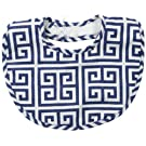 Mud Pie Baby-Boys Newborn Greek Key Bib, Navy, One Size