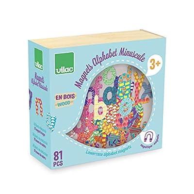 Vilac Vilac6703 81 Small Letter Alphabet Magnets, Multi-Color: Toys & Games