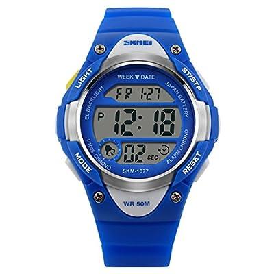 Kids Sport Digital Watch Outdoor Waterproof Stopwatch LED Electronic Wrist Watches for Boys Girls