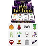 3 X 24 Halloween Tattoos / Transfers Trick or Treat Party Bag Fillers by Henbrandt