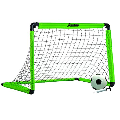 Franklin Sports 3' Insta Soccer Goal Set, Neon Green, 36