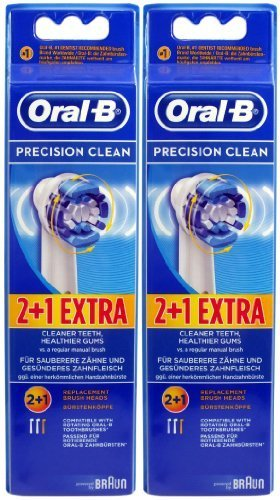 Braun Oral-B Precision Clean Refill Replacement Rechargeable Toothbrush Heads 6 In Pks (Toothbrush Precision Refill Clean)