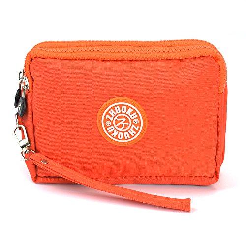 LIFEMATE Waterproof Cell Phone Pouch Handbag Nylon Wallets Wristlet Bag Purse