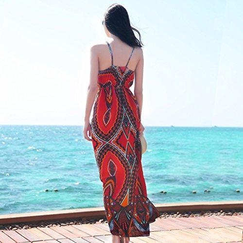 As Ethnischen Sommer Rock Stil Sling Shown Beach Kleider böhmischen Dress fRqZn788