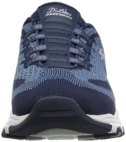 Skechers Sport Donne D'Lites una Nuova Sneaker da Leaf Fashion, Navy Knit