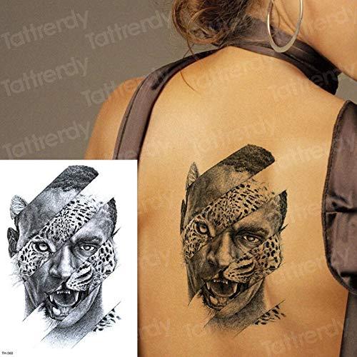 tzxdbh Gran león Tigre Leopardo Medio Brazo Tatuajes temporales ...
