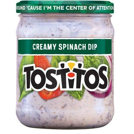 Tostitos, Creamy Spinach Dip, 15oz Glass Jar (Pack of 3) by Tostitos
