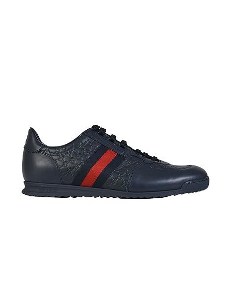 GUCCI - Zapatillas de Gimnasia Hombre, azul (azul), 41.5 IT - Taille Fabricant 7.5: Amazon.es: Zapatos y complementos