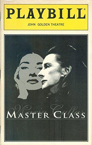 Playbill, John Yellowish Theatre: Master Class, January 1996, Volume 96, Number 1 (Zoe Caldwell, Audra McDonald)