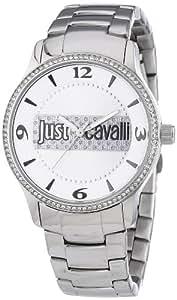 Just Cavalli R7253127502 - Reloj analógico de cuarzo para mujer con correa de acero inoxidable, color plateado