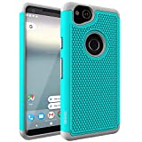 Google Pixel 2 Case, OEAGO Google Pixel 2 Case [Shockproof] [Impact Protection] Hybrid Dual Layer Defender Protective Case Cover for Google Pixel 2 (2017 Release) - Teal