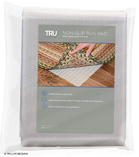 Under Carpet Mat - TRU Lite Rug Gripper - Non-Slip Rug Pad for Hardwood Floors - Non Skid Washable Furniture Pad - Lock Area Rugs, Mats, Carpets, Furniture in Place - Trim to fit any Size - 2' x 4'