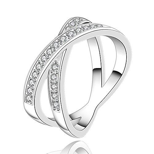 Happy Gogou Hot Sale Cubic Zirconia Wedding Rings for Women (8)