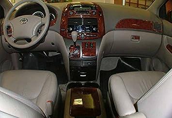 amazon com toyota sienna interior burl wood dash trim kit set 2004 2005 2006 2007 automotive toyota sienna interior burl wood dash trim kit set 2004 2005 2006 2007