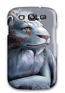 Cute Appearance Cover/tpu TvHTqpm1530CRGOX White Lion Case For Galaxy S3