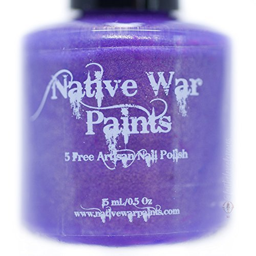 (Sweater Dress, Purple Nail Polish with Gold Shimmer by Native War)