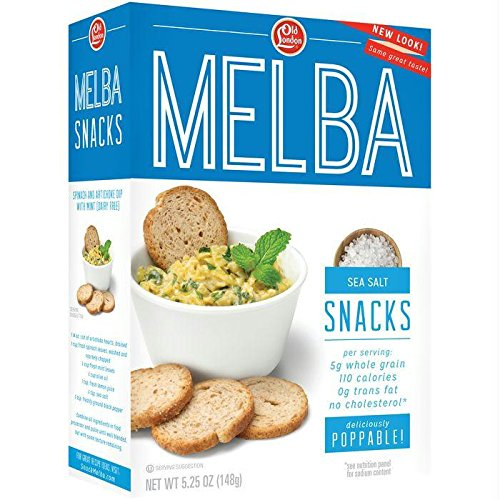 Old London Melba Snacks, Sea Salt, 5.25 Ounce (Pack of 12) by Old London