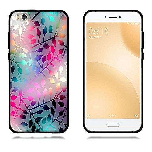 Funda Xiaomi Mi 5c, FUBAODA [Flor rosa] caja del teléfono elegancia contemporánea que la manera 3D de diseño creativo de cuerpo completo protector Diseño Mate TPU cubierta del caucho de silicona suave pic: 24