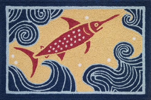 Jellybean Fishermans Pride Catch of the Day 33 Inch Tropical Area Accent Rug (Rugs Accent Tropical)