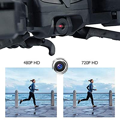 AKASO A200 Drone with Camera 720P FPV Drones Live Video 6-Axis Gyro 2.4GHz Altitude Hold Foldable Arms RC Drones for Kids Beginners Adults - (New Version Controller)