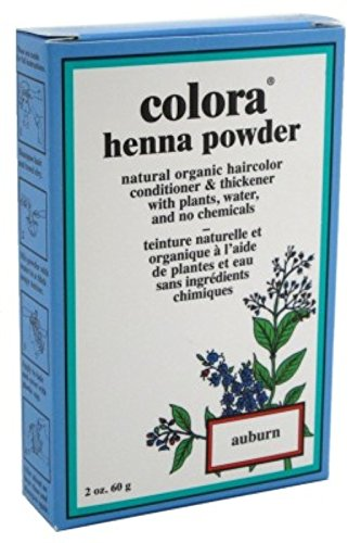 Colora Henna Powder Hair Color Auburn 2oz (2 Pack) by Colora