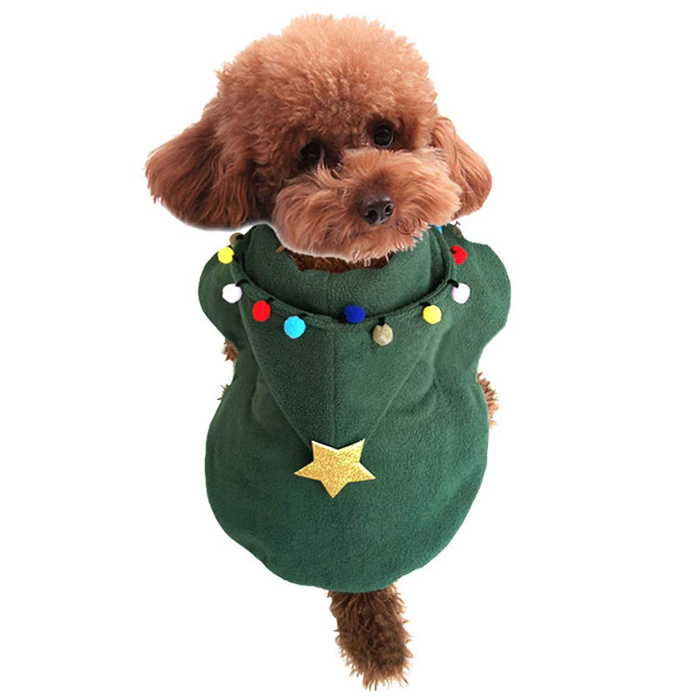 abcnature Christmas Pet Dog Hooded Cloak Dress Rain Coat Windproof Clothes Puppy Elk Jacket Winter Warm