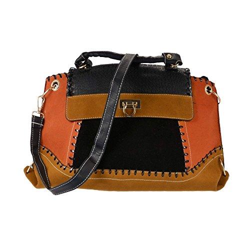 Zeagoo Women Lady's Retro Large Tote Hand Bag Portable Single Strap Shoulder Messenger Bag