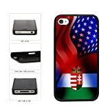BleuReign(TM) Hungary and USA Mixed Flag Plastic Phone Case Back Cover Apple iPhone 4 4s