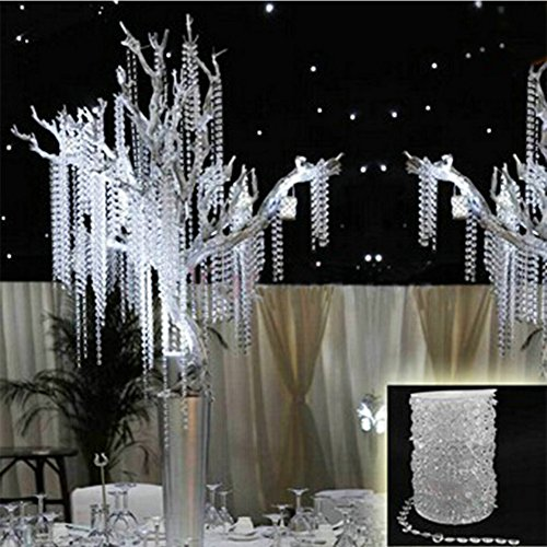 Garland Diamond Acrylic Crystal Bead Curtain Wedding Tree Decor DIY Party Decoration 30Meters (Wedding Tree Branches)