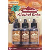 Adirondack Earthtones Alcohol Ink .5oz 3/pkg-cabin Cupboard-caramel/ginger/latte