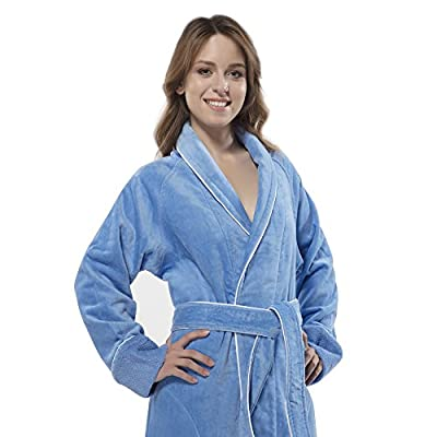 100% Turkish Cotton Louxor Velour Shawcollar Women's Bathrobe by Chesme