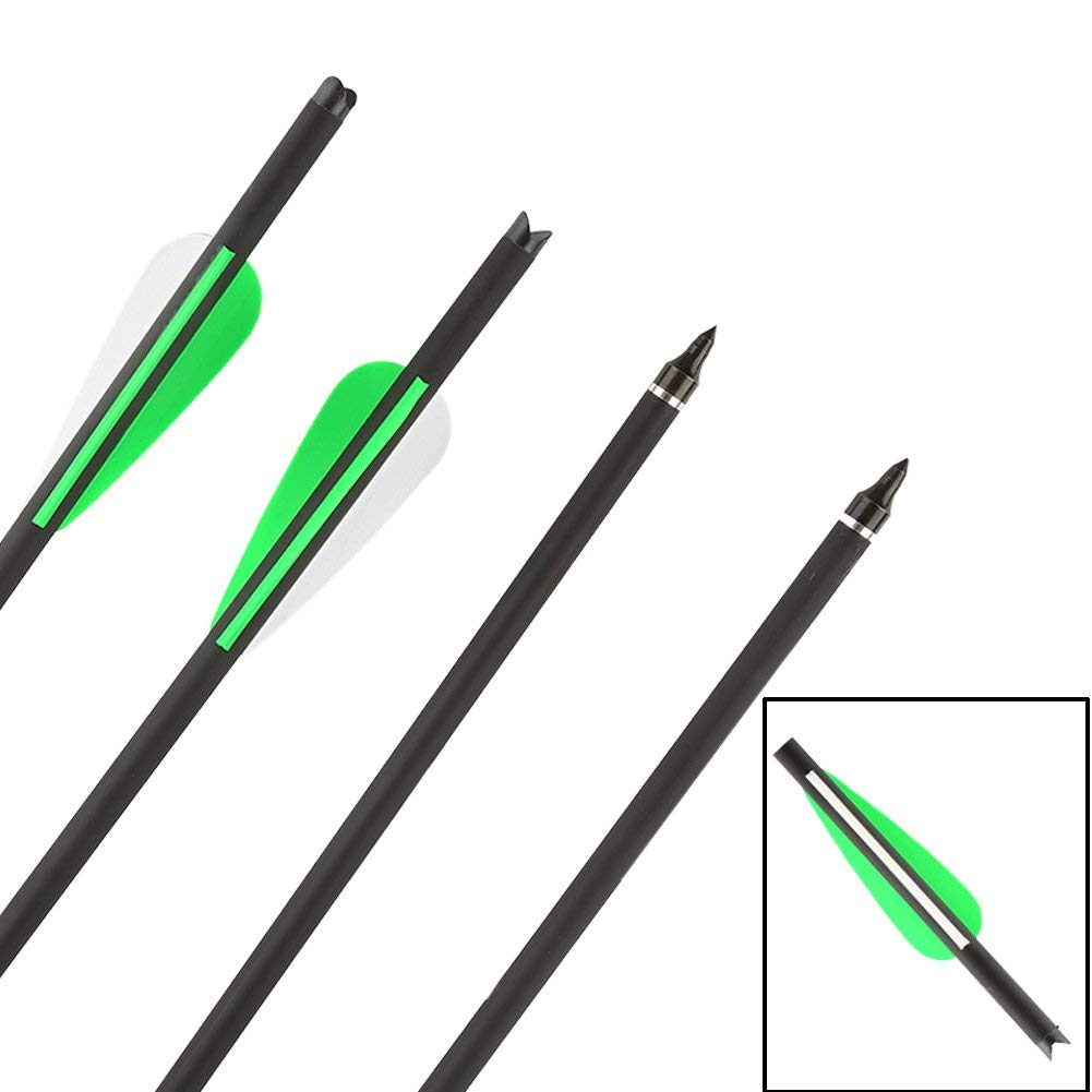 12 x Armbrustpfeile 20 Zoll Carbon bolzen 16 Zoll armbrustbolzen 17 Zoll 8,8 MM f/ür Compound Recurve und Sportarmbrust