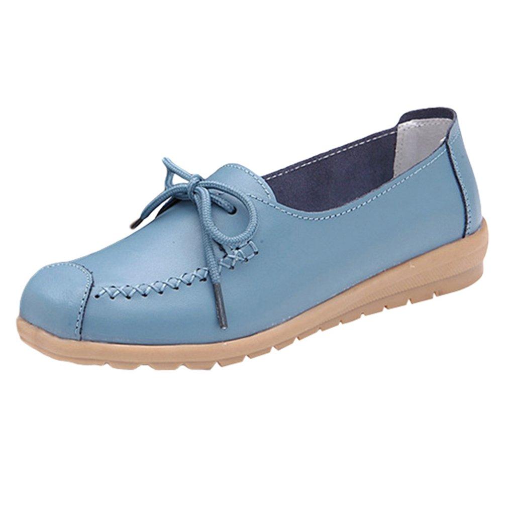 Yuncai Carino Colore della Caramella Donna Moda Scarpe Piselli Casuale Traspirante Scarpe da Barca Piana Blu
