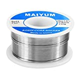 MAIYUM 63-37 Tin Lead Rosin Core Solder Wire for Electrical Soldering (0.8mm 100g)