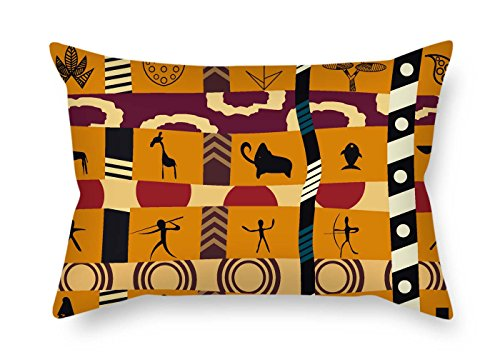 eyeselect 20 X 30 Inches / 50 by 75 cm Bohemian Pillow Shams Two Sides is Fit for Deck Chair Indoor Family Pub Lover Dance Room for ()
