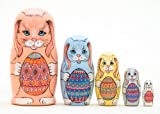 Easter Bunnies w/ Eggs Nesting Doll 5pc./5''